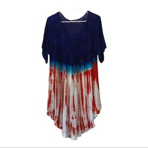 Red white blue American flag 4th of July dress
